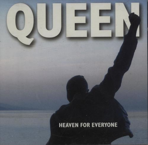 """Promo CARD Insert QUEEN 7"""" Heaven For Everyone UK JUKEBOX PROMO ONLY Vinyl"""
