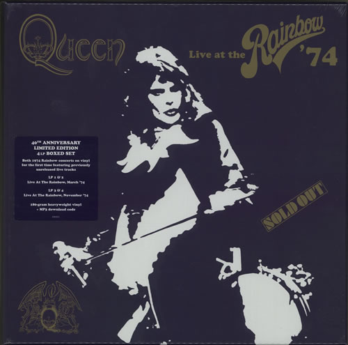 queen live at the rainbow '74 - 180gm vinyl - sealed