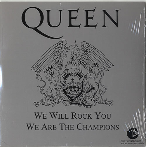 queen we will rock you / we are the champions - silver sleeve