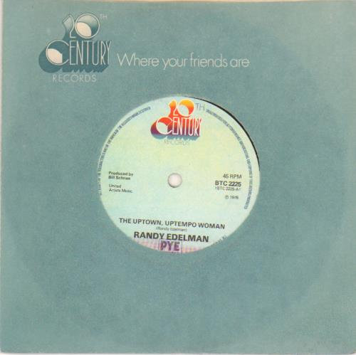 EDELMAN, RANDY - The Uptown, Uptempo Woman - solid centre - 7'' 1枚