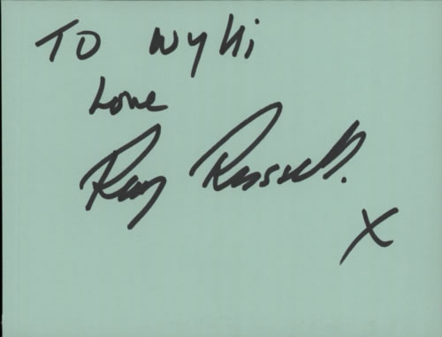 RUSSELL, RAY - Page From An Autograph Book - Others