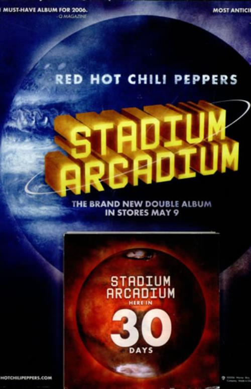 RED HOT CHILI PEPPERS - Stadium Arcadium - Poster / Display