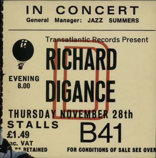 DIGANCE, RICHARD - In Concert - Maxi 33T