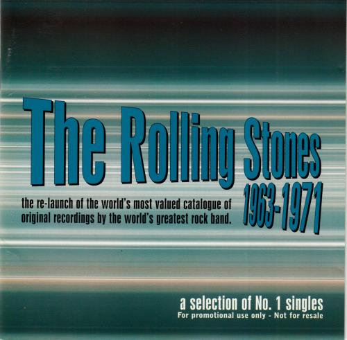 Rolling Stones 1963-1971 A Selection Of No 1 Singles UK