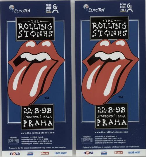 ROLLING STONES - Bridges To Babylon Tour Flyers 1998 - Pair Of - Poster / Display