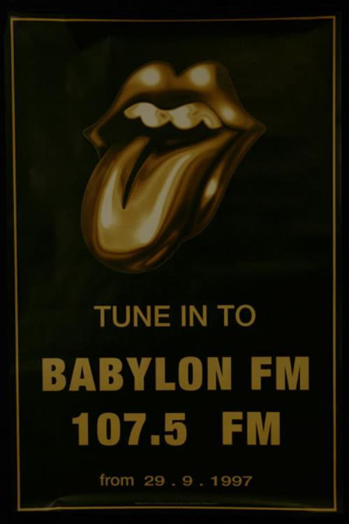 ROLLING STONES - Babylon FM - Withdrawn Poster - Poster / Affiche