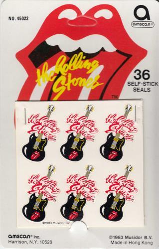 ROLLING STONES - Guitar Stickers - Autres