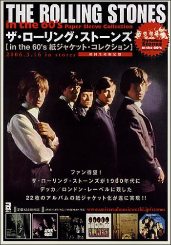 ROLLING STONES - In The 60's Paper Sleeve Collection - Pair Of Handbills - Poster / Affiche