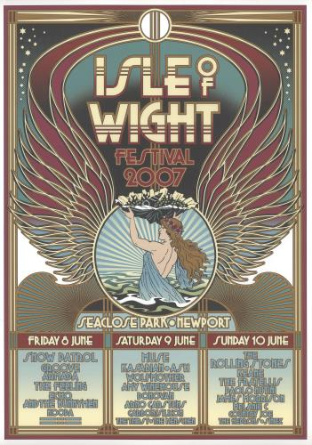 ROLLING STONES - Isle Of Wight Festival 2007 - Poster / Affiche