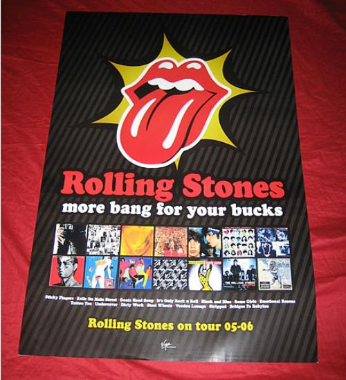 ROLLING STONES - More Bang For Your Bucks - Poster / Affiche