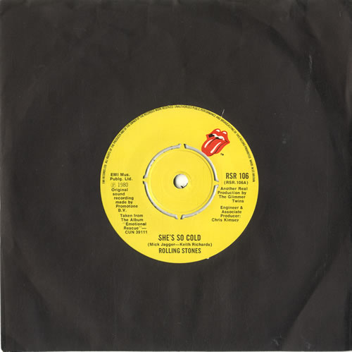ROLLING STONES - She's So Cold - 7inch x 1