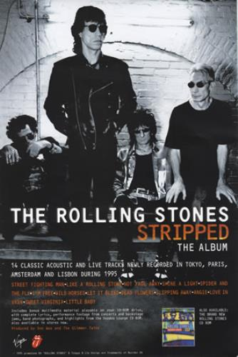 ROLLING STONES - Stripped 15'' x 10'' - Poster / Affiche