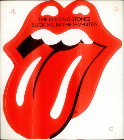 Rolling Stones Sucking In The Seventies Window Sticker