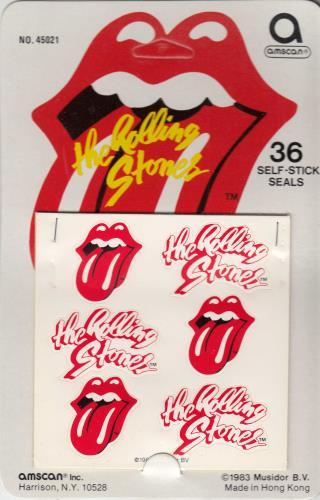 ROLLING STONES - Tongue Logo Stickers - Autres