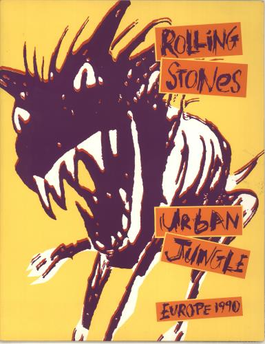 ROLLING STONES - Urban Jungle: Europe 1990 + 'Bud' insert - Others