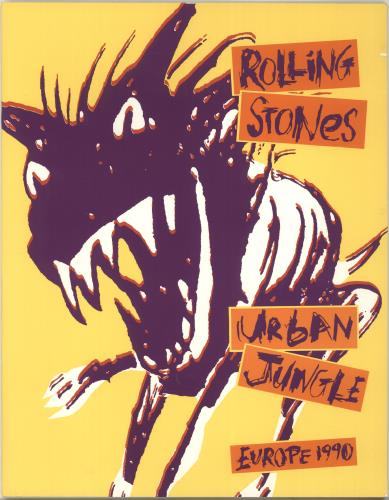 ROLLING STONES - Urban Jungle: Europe 1990 + 'Bud' insert & Ticket Stub - Autres