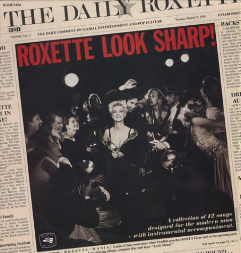 Roxette Look Sharp Mexico Vinyl LP Record SLEM-1605 Look ...