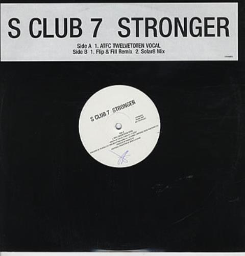 S CLUB 7 - Stronger - 12 inch 33 rpm