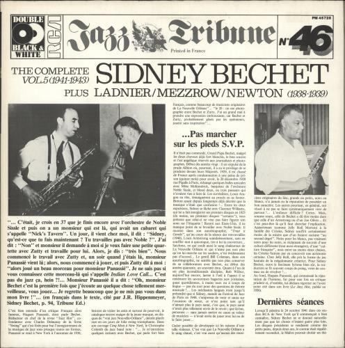 BECHET, SIDNEY - The Complete Sidney Bechet - Volume 5 (1941-1943) - Maxi 33T