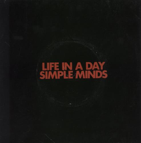 Simple minds life in a day uk 7 vinyl record zum10 life for A day in the life of a minimalist