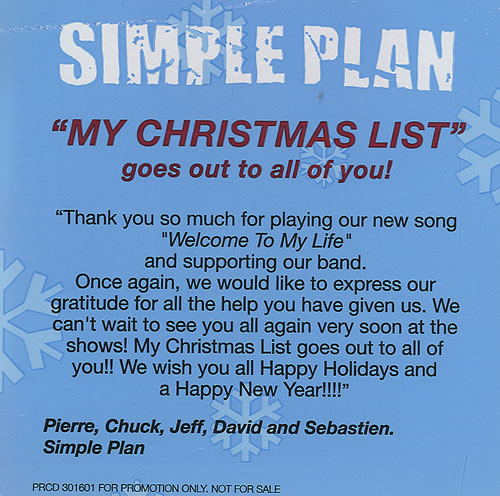 price info - Simple Plan Christmas Song