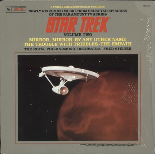 STAR TREK - Star Trek - Volume Two (Music Adapted From Selected Episodes Of The Paramount TV Series) - 12 inch 33 rpm