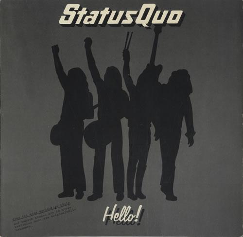 Status Quo Hello German Vinyl Lp Record 6360098 Hello