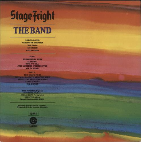 The Band Stage Fright Insert Uk Vinyl Lp Record Ea Sw425