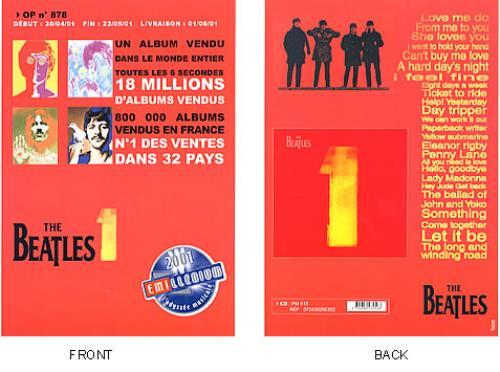 BEATLES, THE - 1 - 2001 EMI-llenium Promotion - Poster / Display