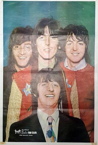 BEATLES, THE - 1968 Souvenir Fan Club Poster - Poster / Display