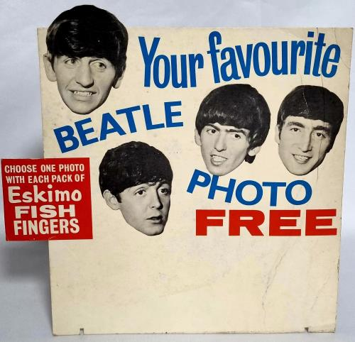 BEATLES, THE - Eskimo Fish Fingers + 4 Cards - Poster / Display