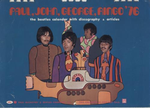 BEATLES, THE - Paul, John, George, Ringo '76 - Calendrier