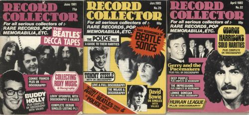 BEATLES, THE - Quantity of Three Record Collector Magazines - Autres