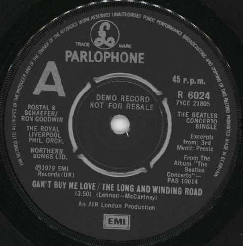 Beatles, The The Beatles Concerto Single - Demo