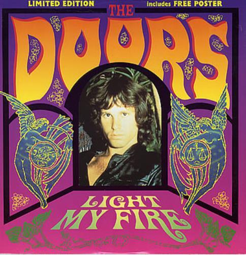 The Doors Light My Fire Poster Uk 12 Quot Vinyl Record Maxi
