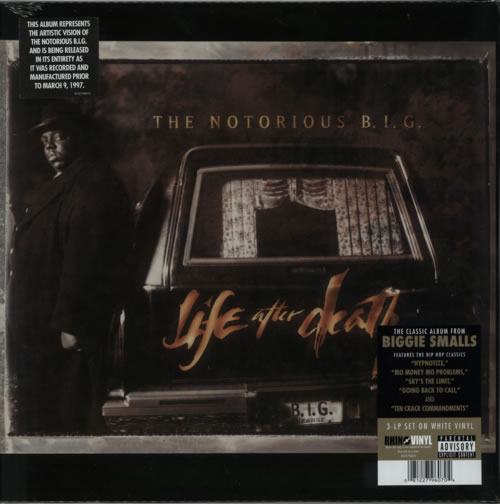 The Notorious B I G  Life After Death - White Vinyl - Rsd UK Triple