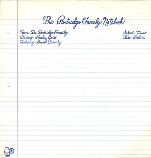PARTRIDGE FAMILY, THE - The Partridge Family Notebook - 12 inch 33 rpm