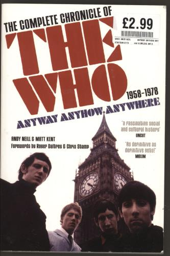 WHO - Anyway Anyhow Anywhere: The Complete Chronicle of The Who - Livre