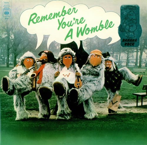 WOMBLES - Remember You're A Womble - Stickered sleeve - 12 inch 33 rpm