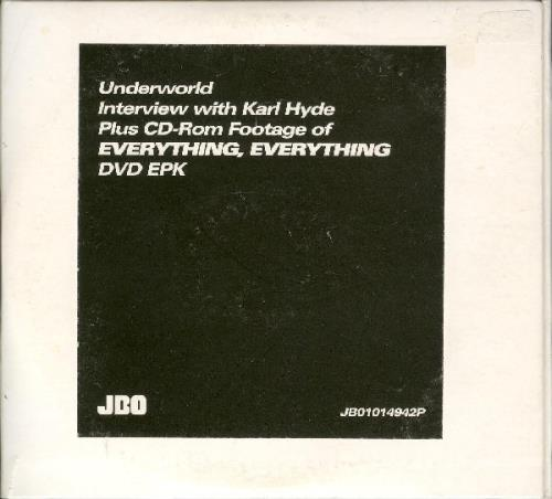 UNDERWORLD - Interview With Karl Hyde + CD-Rom - CD