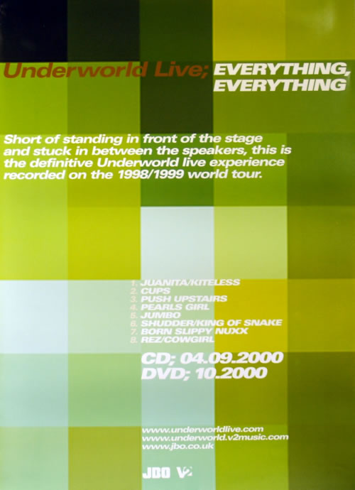 UNDERWORLD - Live: Everything, Everything - Poster / Display