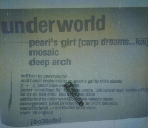 UNDERWORLD - Pearl's Girl - CD
