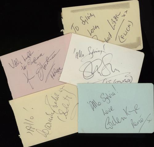 'ALLO 'ALLO - Autographs By The Cast Of BBC TV's 'Allo 'Allo - Others