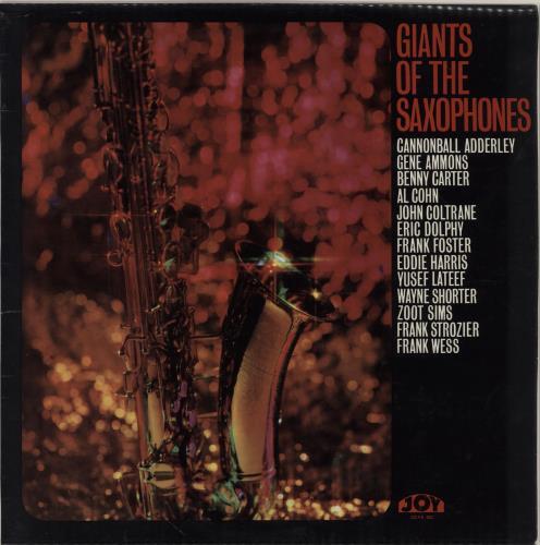 VARIOUS - JAZZ - Giants Of The Saxophones - 12 inch 33 rpm