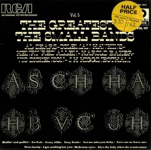 VARIOUS - JAZZ - The Greatest Of The Small Bands Volume 5 - 12 inch 33 rpm