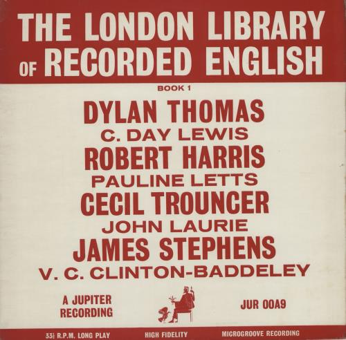 VARIOUS-SPOKEN WORD & POETRY - The London Library Of Recorded English Book 1 - 12 inch 33 rpm