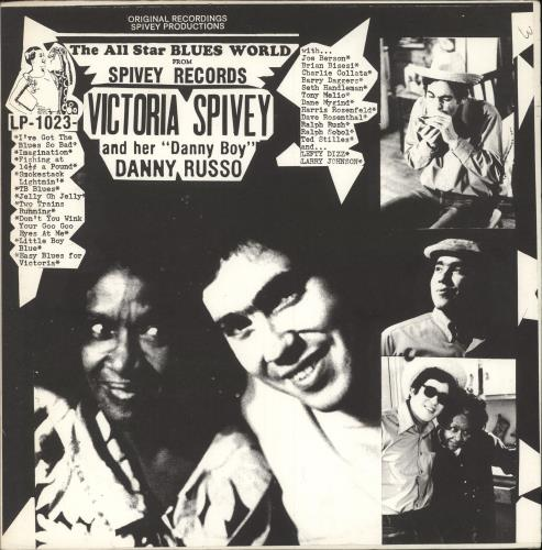 SPIVEY, VICTORIA - Victoria Spivey And Her ''Danny Boy'', Danny Russo - 12 inch 33 rpm