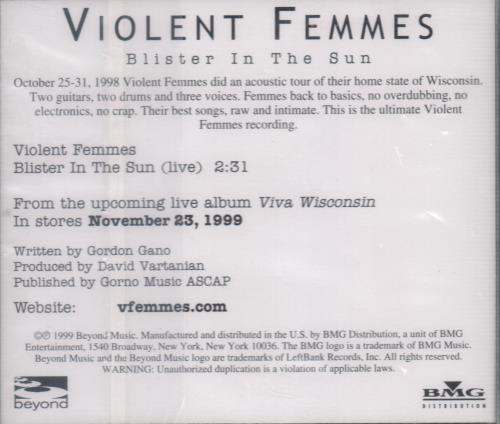 Violent Femmes Blister In The Sun Lyrics - Carterdigital.club