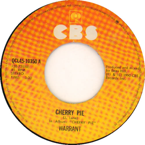 Warrant cherry pie cd
