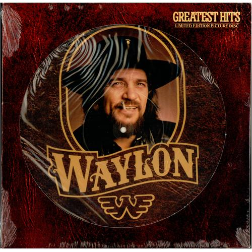 Waylon Jennings Greatest Hits Usa Lp Picture Disc Cpl1